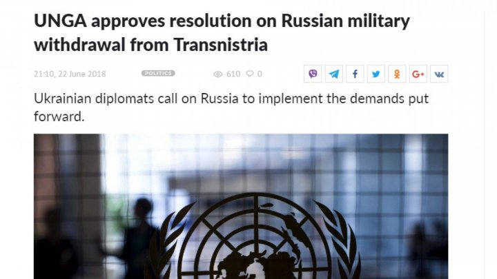 Foreign media about UN's approval resolution on Russian troops withdrawal