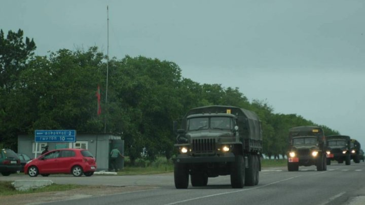 Armored cars with no registration numbers observed on Dubasari-Grigoriopol-Tiraspol route immediately following the UN decision