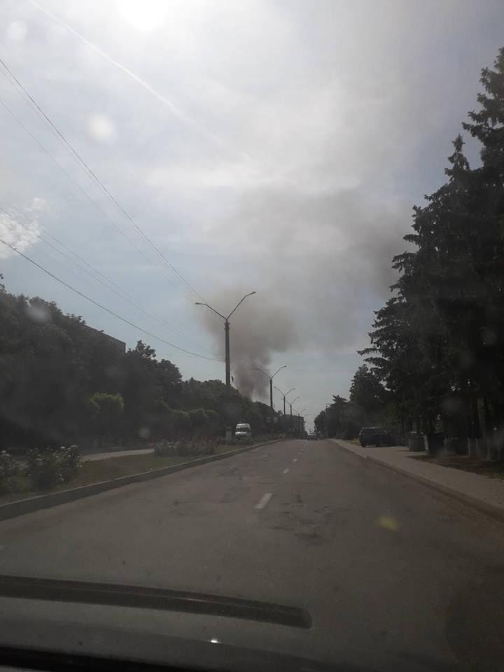 Drochia blaze: A local store set on fire