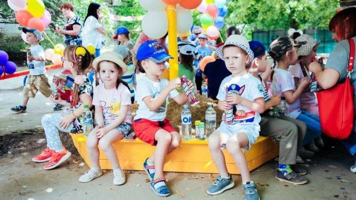 New playground for children of kindergarten no.194 in Codru