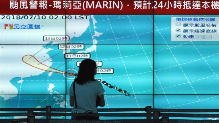 Schools closed and flights canceled as Typhoon Maria set to hit Taiwan