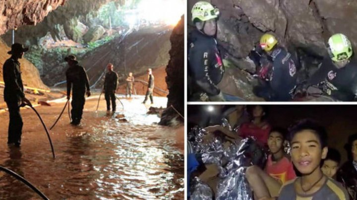 Six Thai boys rescued off flooded cave