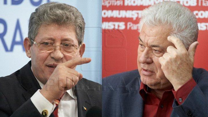 Insulting replies in Parliament between Vladimir Voronin and Mihai Ghimpu