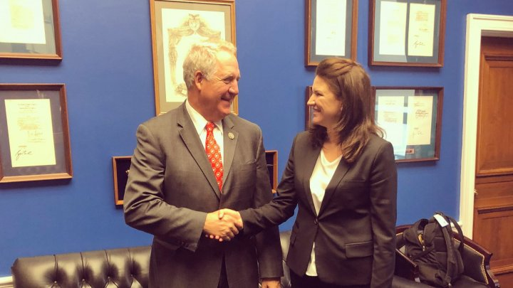 Moldovan Ambassador to United States Cristina Balan met with Congressman John Shimkus