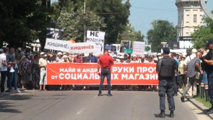 Road blocked on Alexei Mateevici of Capital