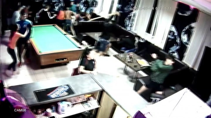Chaos in bar as youngsters kicked and hit clients with glasses, billiards