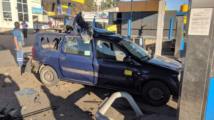 Bad luck for taxi driver from Capital. The gas tank of car exploded (PHOTO)