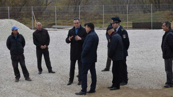 Vitalie Vrabie inspected construction yard of new customs control area at Sculeni