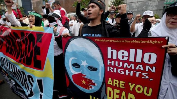 Jakarta demo over China's treatment of Uighurs