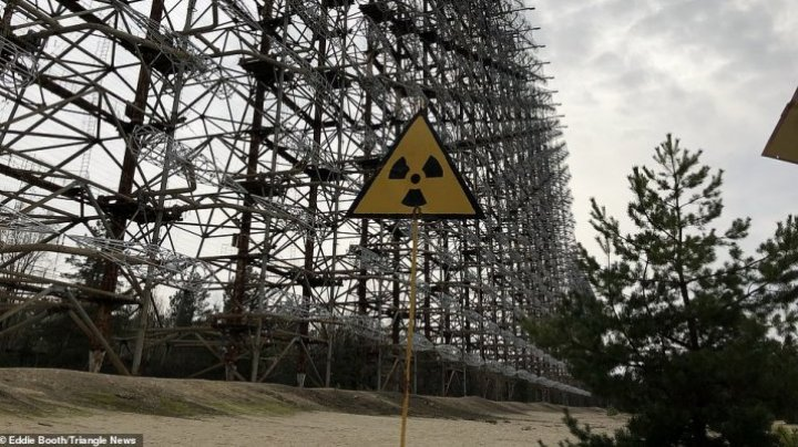 Haunting images show the nuclear wasteland which stands largely untouched since the catastrophe in 1986
