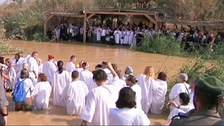 Jordan River ceremony commemorates baptism of Christ