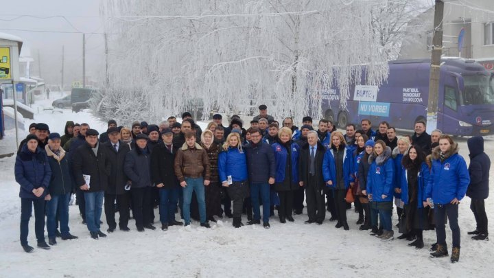PDM delegation in Ocniţa. Locals heart government's reforms and state PDM fulfilled promises