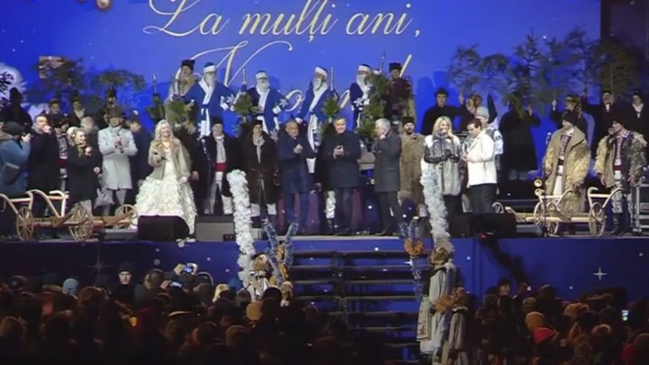 We willingly grow Moldova together: A group of artists wished whole country at New Year's Eve concert at Nisporeni