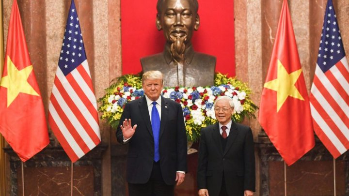 Trump-Kim summit: U.S. President kicked off Wednesday with Vietnamese President Nguyen Phu Trong