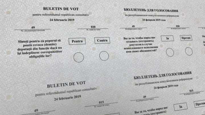 Referendum ballots started to be printed at the Central Typography