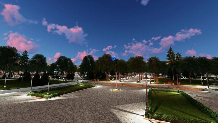 Stefan cel Mare public Garden will be arranged in European style. Check on how it will look like (PHOTO)