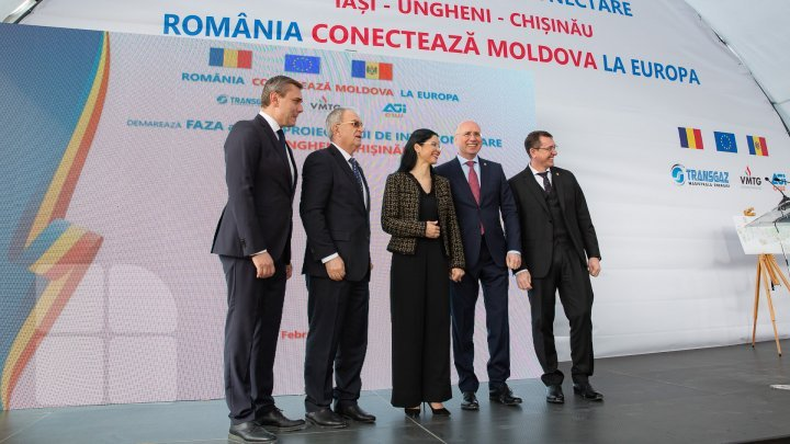 Romania connects Republic of Moldova to Europe. Ungheni-Chișinău gas pipeline construction inaugurated