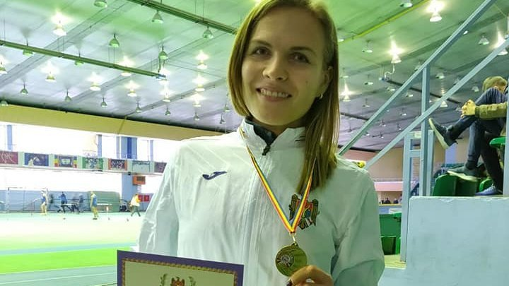 Moldova policewoman won title of National Champion in long jump