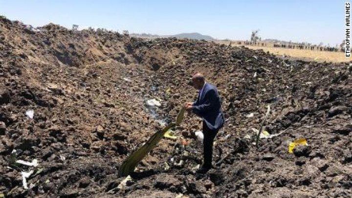 Officials and relatives visit site of Ethiopia crash