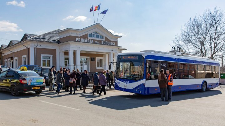 Good news for Bubuieci residents. Trolley line was installed in the village