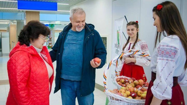 "Modova Fruit company launched ""Sweet Moldovan apple"" at Chisinau International Airport"