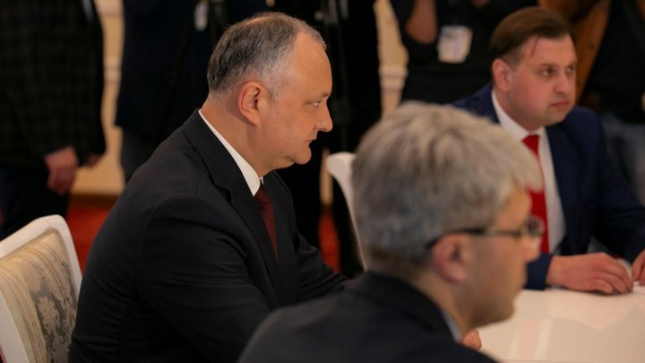 President Igor Dodon announces schedule for meeting with leaders of parliamentary factions