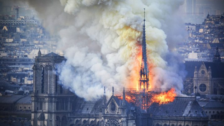 "Notre Dame Cathedral fire: Macron promises to rebuild, but Paris building sustained ""colossal damage"""