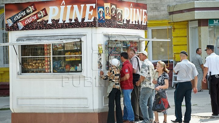 Vending booths show up after Chisinau City Hall's effort to evacuate