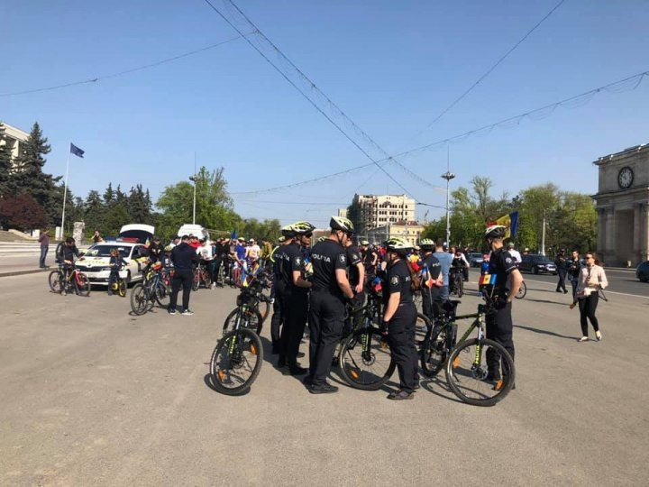 Meaningful actions of Moldovan police to honor National Flag Day