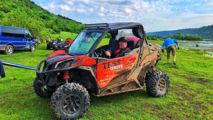 Amphibious quads in off-road race full of extreme conditions