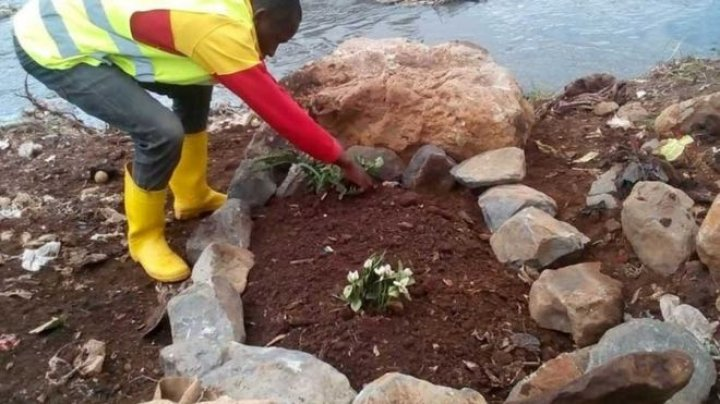Kenya's authorities say the bodies of two babies have been found during a clean-up of a river in Nairobi