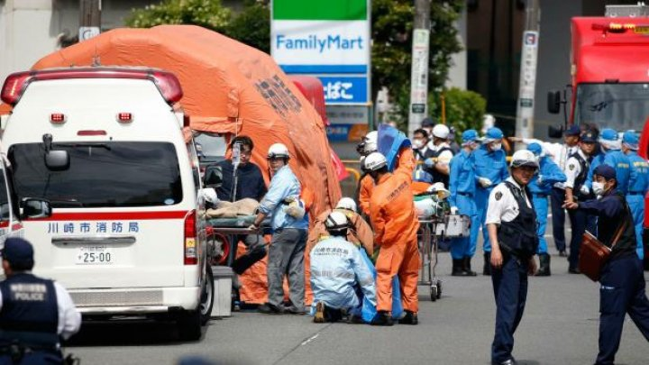 Knife-wielding man stabs 16 schoolkids and kills two adults at bus stop in Japan