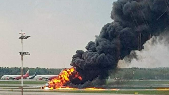 At least 13 killed including 2 children in Aeroflot plane fire at Moscow airport