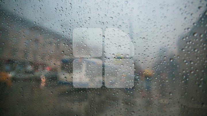 Rainfall with thunderstorm forecast across Moldova