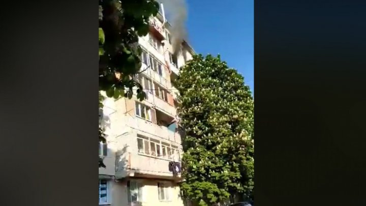 Blaze broke out in a Buiucani apartment: Cigarette but found on balcony although owner didn't smoke