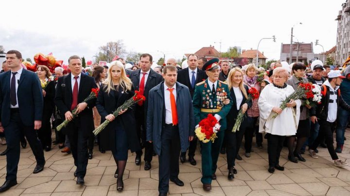Şor party organized march dedicated to Victory Day