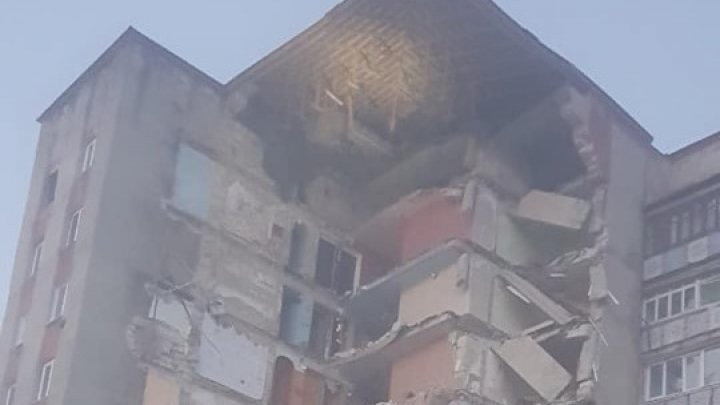 Block of nine flats crashed in Otaci. 46 persons were evacuated, including 11 children (VIDEO)
