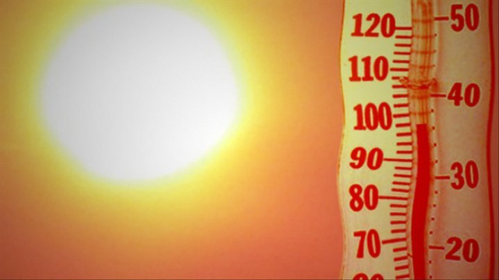 Yellow Code warning for hot weather all across the country. How much degrees will show the thermometers