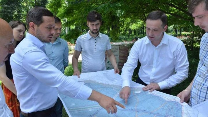 The renovation workings of the Alunelul Park of Buiucani sector of the Capital has started