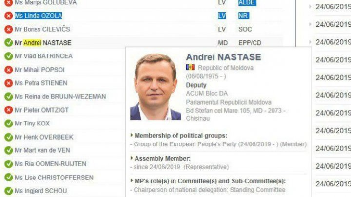 Andrei Năstase voted alongside Socialist Batrîncea for the return of Russia to the Parliamentary Assembly of the Council of Europe