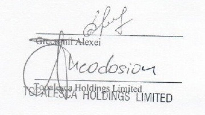 Dorin Chirtoaca published Greceanii family's Credit Agreements from BEM: Mrs. Greceanii, do you recognize your husband's signature?