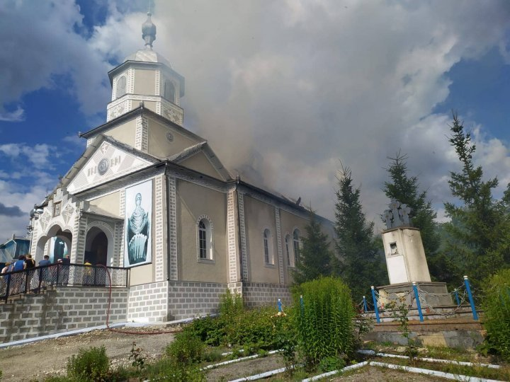 Blaze broke out at Acoperemântul Maicii Domnului church in the north of country