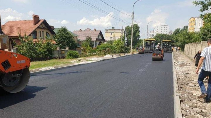The Chisinau City Hall informed of asphalting the Ialoveni street (PHOTO)