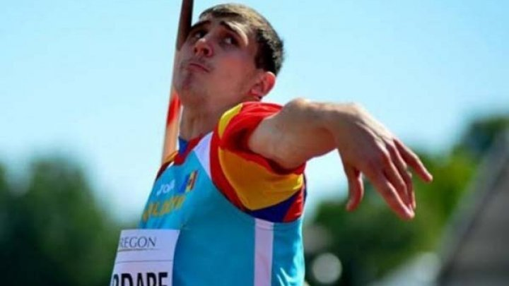 Andrian Mardare who won gold medal at javelin throw World Universiade has returned home