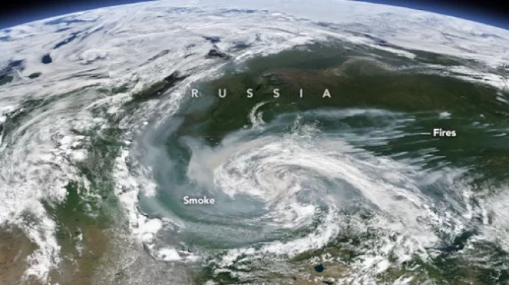 NASA's Earth Observatory reveal: Siberian wildfires visible from space