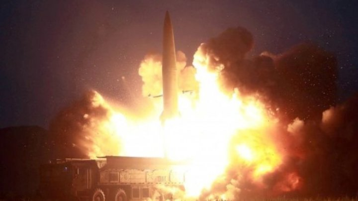 North Korea fires two missiles into the sea, its fifth such launch in recent weeks