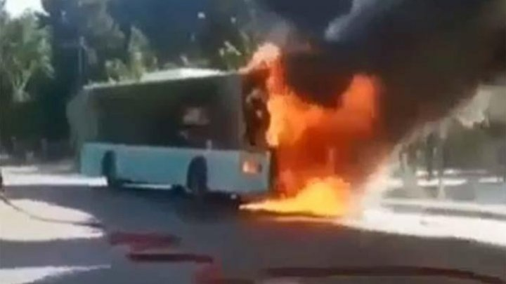 Bus full of Moldovan children caught fire on his way to Bulgaria
