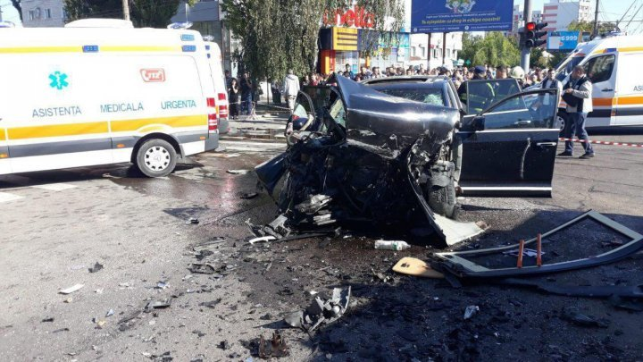 Who was the man killed in Monday's accident in Buiucani sector of Chisinau?