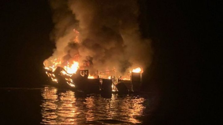 At least 33 missing after a boat was destroyed by fire off the coast of California