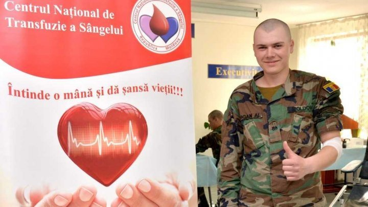 Over 200 soldiers to donate blood at the collecting centers of the Chisinau, Cahul and Balti